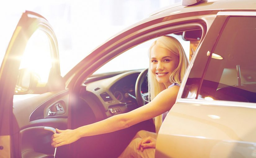 woman in car automotive emissions
