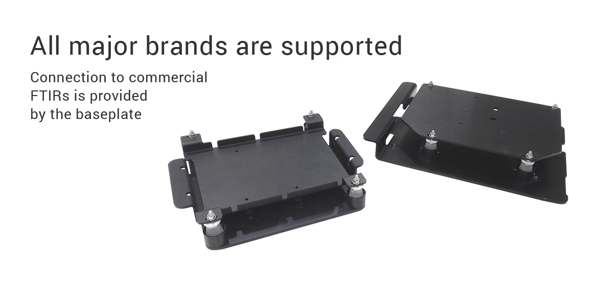 FTIR accessory - connection to commercial FTIRs is provided by the baseplate
