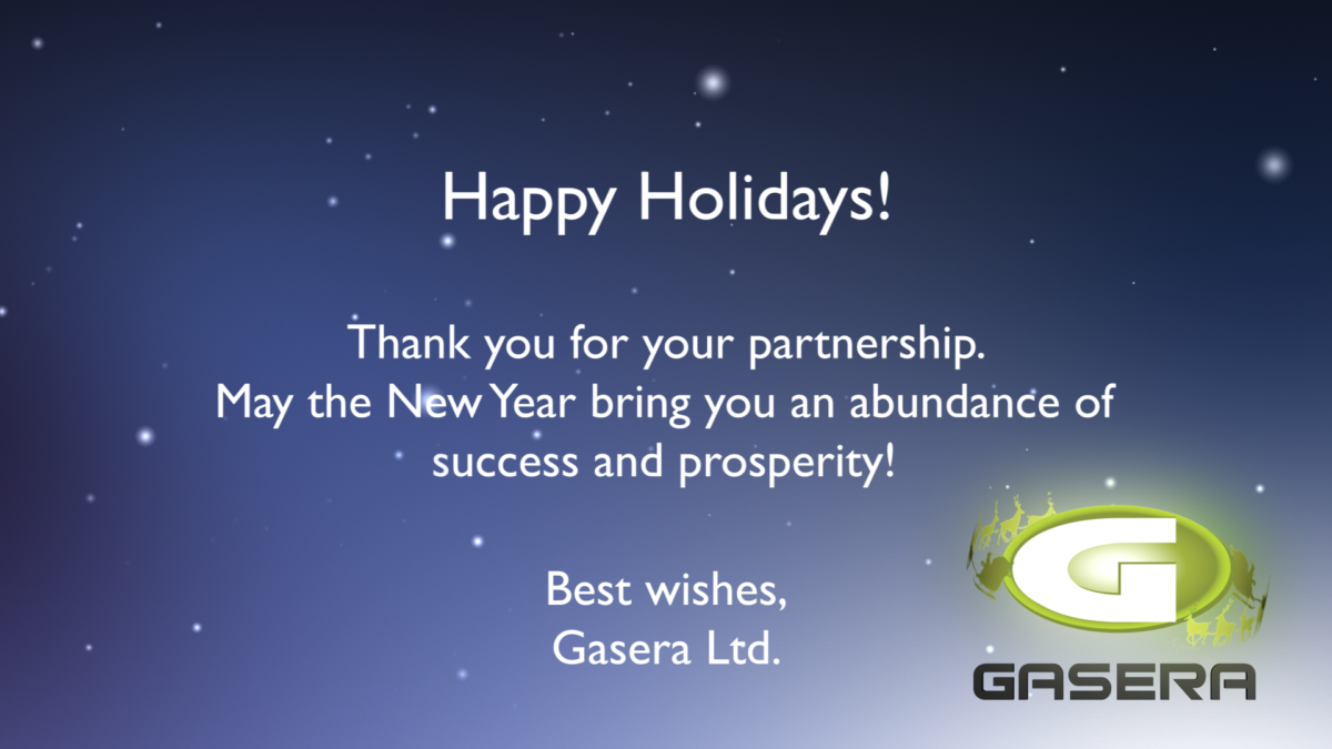 Gasera wishes Merry Christmas 2017