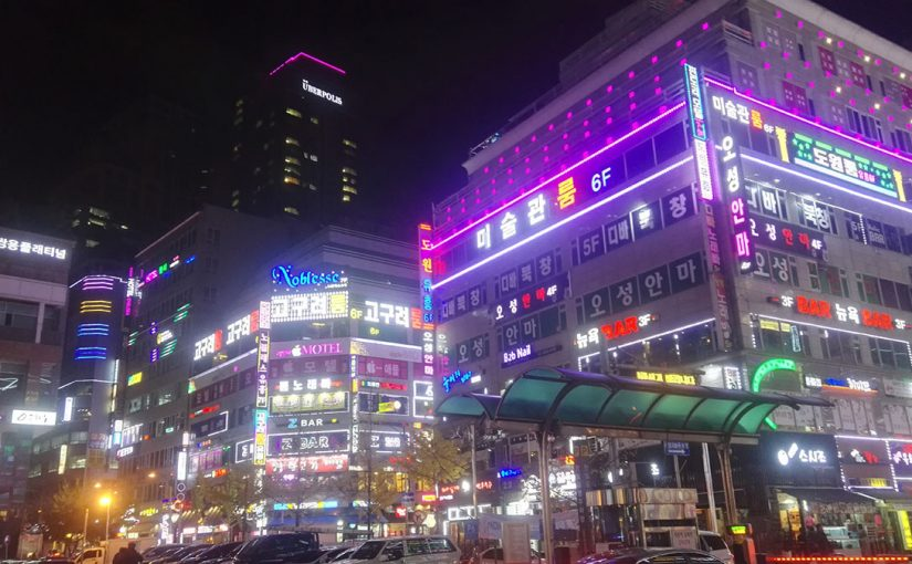 South Korea by night at testing visit